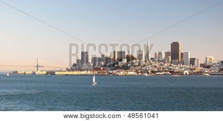 San Francisco Downtown Skyline From Alcatraz Island