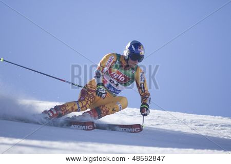 SOELDEN AUSTRIA OCT 26, Eric Guay CAN  competing in the mens giant slalom race at the Rettenbach Glacier Soelden Austria, the opening race of the 2008/09 Audi FIS Alpine Ski World Cup