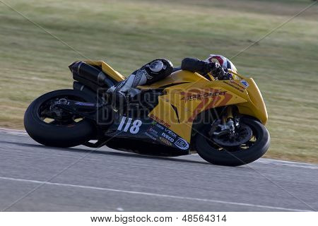 26 Sept 2009; Silverstone England: Rider number 118 Richard Cooper GBR riding for Team Co-ordit  during the pole position qualifying session of the MCE Insurance British Superbike Championship