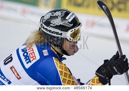 SOELDEN AUSTRIA OCT 25,  Anja Paerson SWE competing in the womens giant slalom race at the Rettenbach Glacier Soelden Austria, the opening race of the 2008/09 Audi FIS Alpine Ski World Cup