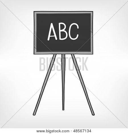 School Black Board Vector Illustration