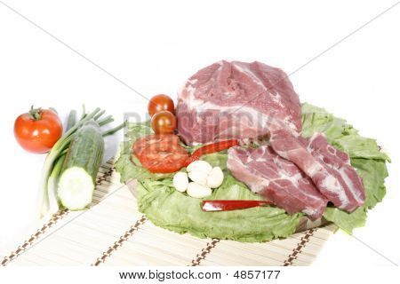 Pork Scruff With Vegetable Decorated