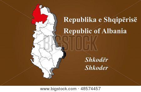 Albania - Shkoder Highlighted