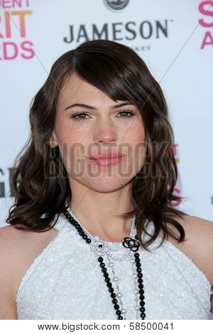 Clea Duvall at the 2013 Film Independent Spirit Awards, Private Location, Santa Monica, CA 02-23-13