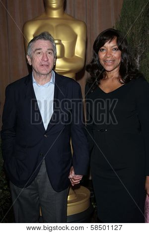Robert De Niro and Grace Hightower at the 85th Academy Awards Nominations Luncheon, Beverly Hilton, Beverly Hills, CA 02-04-13