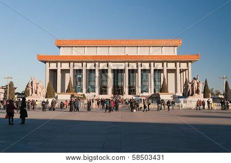 Chairman Mao Memorial Hall (mausoleum Of Mao Zedong). Beijing. China