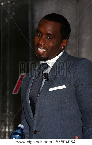 Sean Combs at an Announce of their New Venture, AQUAhydrate, Private Location, Los Angeles, CA 02-27-13