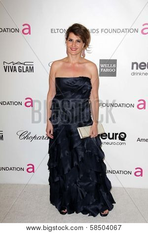 Nia Vardalos at the Elton John Aids Foundation 21st Academy Awards Viewing Party, West Hollywood Park, West Hollywood, CA 02-24-13