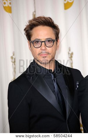 Robert Downey Jr. at the 85th Annual Academy Awards Press Room, Dolby Theater, Hollywood, CA 02-24-13