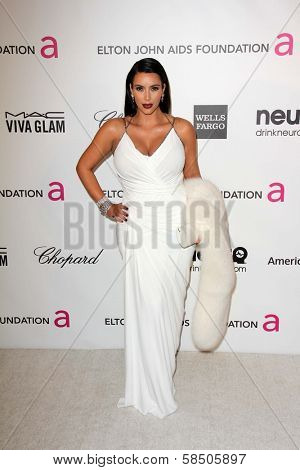 Kim Kardashian at the Elton John Aids Foundation 21st Academy Awards Viewing Party, West Hollywood Park, West Hollywood, CA 02-24-13