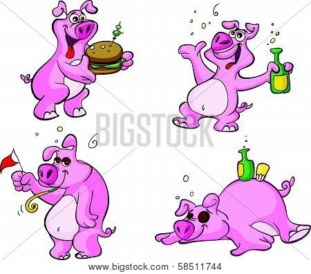 cute party pig