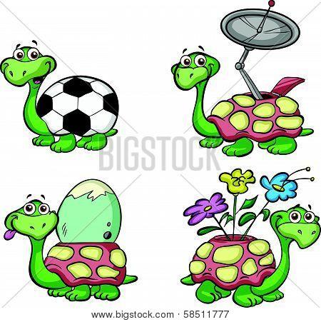 cute cartoon turtles