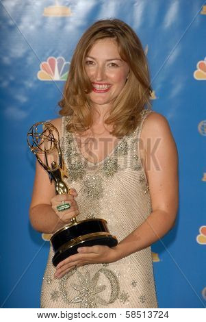 LOS ANGELES - AUGUST 27: Kelly Macdonald in the Press Room at the 58th Annual Primetime Emmy Awards in The Shrine Auditorium August 27, 2006 in Los Angeles, CA.