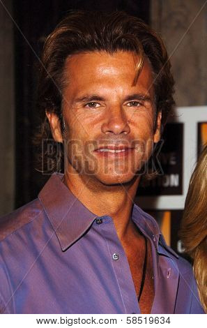 HOLLYWOOD - AUGUST 15: Lorenzo Lamas at the Los Angeles Premiere of Dirty Rotten Scoundrels on August 15, 2006 at Pantages Theatre in Hollywood, CA.