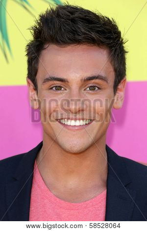 Tom Daley at Nickelodeon's 26th Annual Kids' Choice Awards, USC Galen Center, Los Angeles, CA 03-23-13