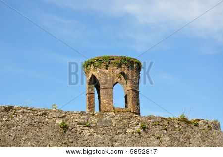 Ruins over the wall of Blarney Castle