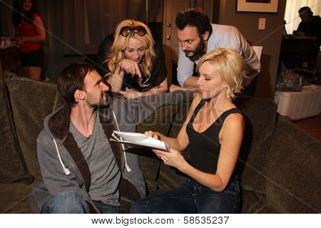Gary Cairns, Jennifer Blanc-Biehn, Mark Gantt, Brianne Davis on the set of