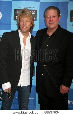 LOS ANGELES - JUNE 24: Jon Bon Jovi and Al Gore at a Special Outdoor Screening of