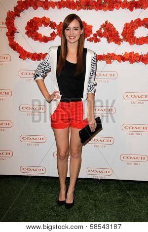 Ahna O'Reilly at Coach's 3rd Annual Evening of Cocktails and Shopping benefiting  the Children's Defense Fund, Bad Robot, Santa Monica, CA 04-10-13