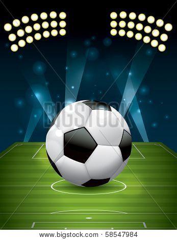 Football - Soccer Ball On Textured Field