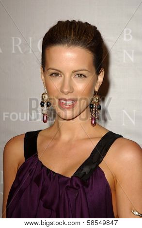 BEVERLY HILLS - APRIL 26: Kate Beckinsale at the Nina Ricci Fashion Show and Gala Dinner to Benefit The Rape Foundation at Barneys New York on April 26, 2006 in Beverly Hills, CA.