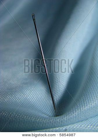 needle on fabrics