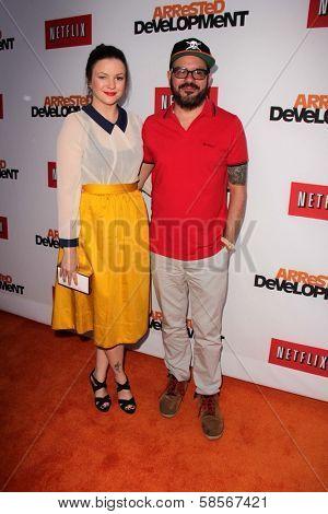 Amber Tamblyn and David Cross at the