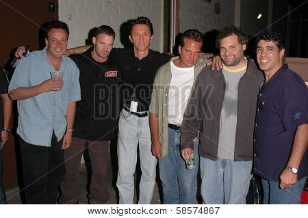 Reverend Bob Levy, K.C. Armstrong, Mike Spomberg, Nick Di Paolo, Artie Lange and Gary Dell'Abate  at the FM Talk Brew Ha Ha comedy show in Agoura Hills, CA 06-12-04
