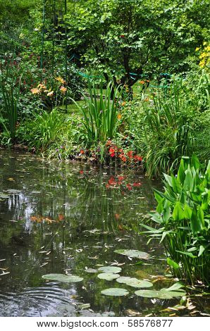 The garden of the famous Painter Claude Monet poster
