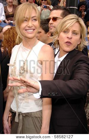 HOLLYWOOD - APRIL 28: Portia de Rossi and Ellen DeGeneres at The 33rd Annual Daytime Emmy Awards at Kodak Theatre on April 28, 2006 in Hollywood, CA.