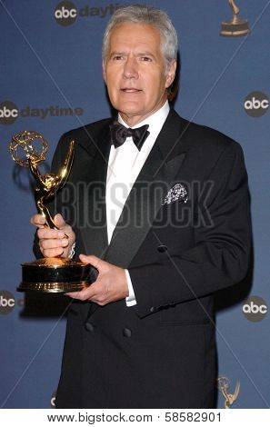 HOLLYWOOD - APRIL 28: Alex Trebek in the press room at The 33rd Annual Daytime Emmy Awards at Kodak Theatre on April 28, 2006 in Hollywood, CA.