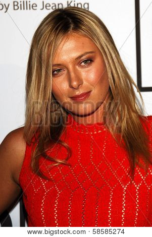 BEVERLY HILLS - APRIL 20: Maria Sharapova at the inaugural The Billies presented by The Women's Sports Foundation at Beverly Hilton Hotel on April 20, 2006 in Beverly Hills, CA.