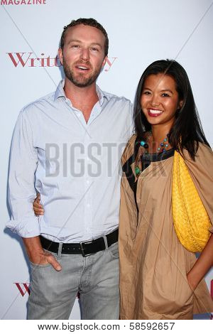 Devon Gummersall and Jenn Liu at the WGA's 101 Best Written Series Announcement, Writers Guild of America Theater, Beverly Hills, CA 06-02-13