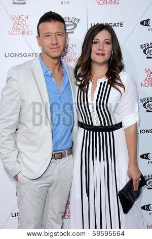 Joshua Zar and Emma Bates at the