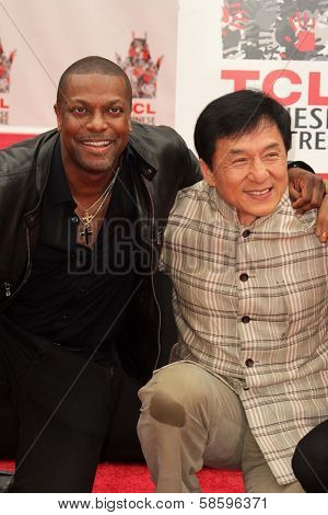 Chris Tucker and Jackie Chan at the Jackie Chan Hand and Foot Print Ceremony, TCL Chinese Theater, Hollywood, CA 06-06-13
