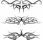 Patterns of tribal tattoo for design use poster