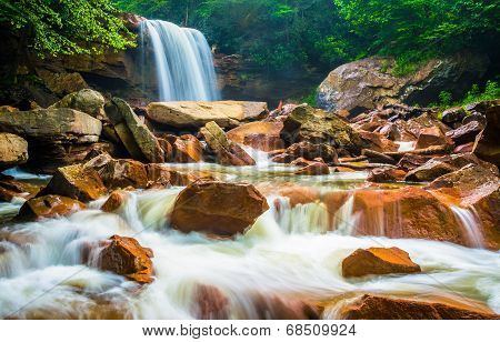 Douglas Falls, On The Blackwater River In Monongahela National Forest, West Virginia.