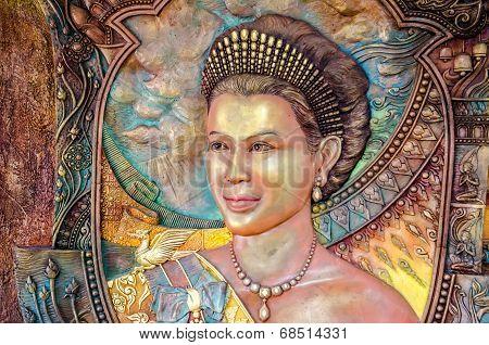 Thai Queen Portrait