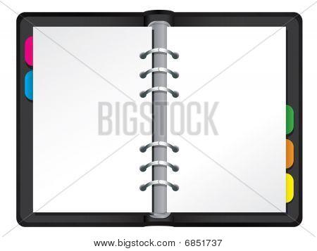 Blank vector filofax
