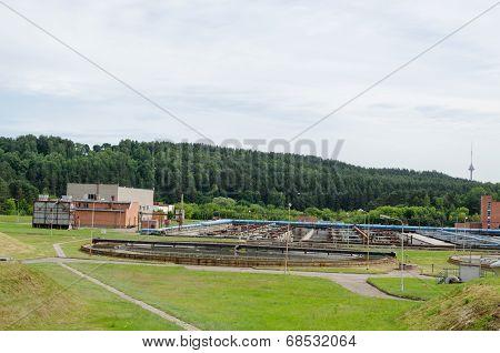 City Sewage Water Treatment Plant Reservoir Pools