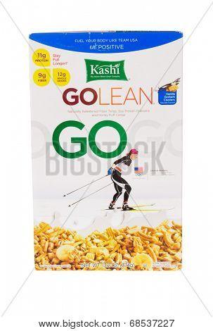 HAYWARD, CA - July 17, 2014: 13.1 oz of Kashi GOLEAN-GO cereal