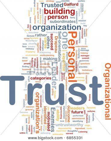 persönliche Vertrauen Hintergrund Konzept