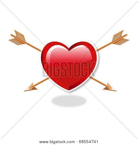 Heart And double Arrows