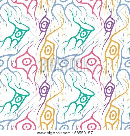 seamless pattern with neurons