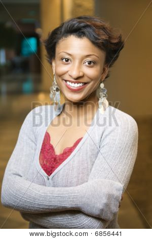 Portrait Of Smiling African-american Woman