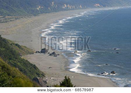 Wild Shoreline Of The Pacific Northwest