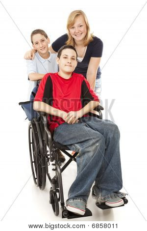 Group Of Kids - One Disabled