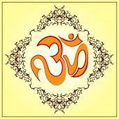 Aum (Om) the holy motif   poster