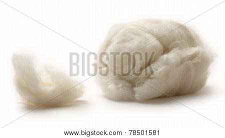 Cotton Wool On The White Background
