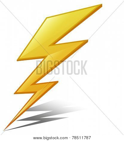 Illustration of a lightening strike